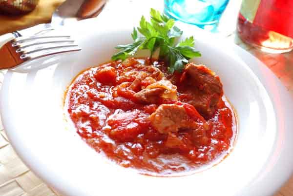 Receta Carne con tomate
