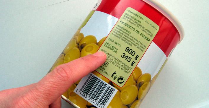etiquetas alimentos nutición