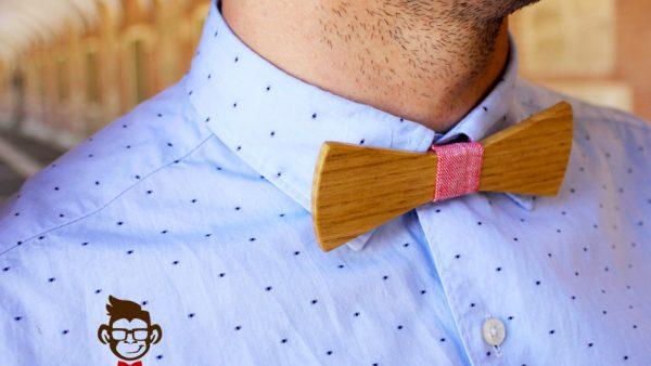 pajarita de madera